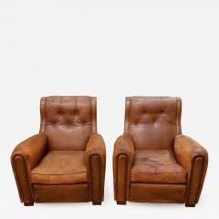 Pair of Art Deco Leather Chairs - 1798084