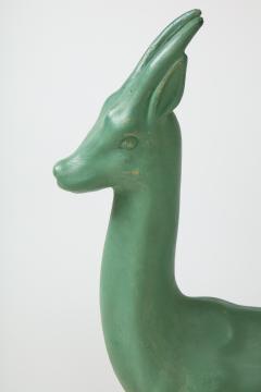Pair of Art Deco Plaster Gazelle - 1155251