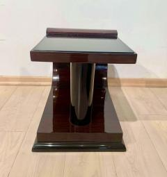 Pair of Art Deco Side Tables Rosewood Ebonized Black Glass France 1930s - 1889060