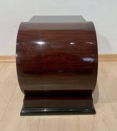 Pair of Art Deco Side Tables Rosewood Ebonized Black Glass France 1930s - 1889064