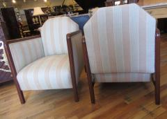 Pair of Art Deco Upholstered Club Chairs - 291504