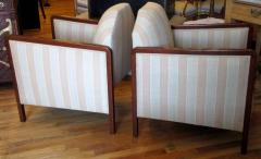 Pair of Art Deco Upholstered Club Chairs - 291506