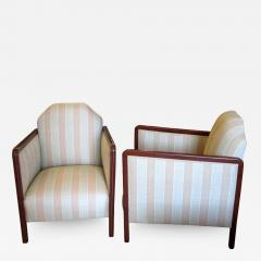 Pair of Art Deco Upholstered Club Chairs - 291850