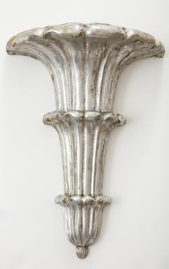 Pair of Art Deco Venetian Carved Silver Leafed Wall Brackets - 1215660