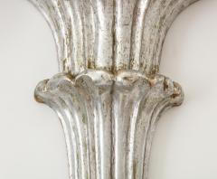 Pair of Art Deco Venetian Carved Silver Leafed Wall Brackets - 1215662