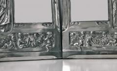 Pair of Art Nouveau Large Silver Plate Photograph Frames Germany C 1900 - 272458