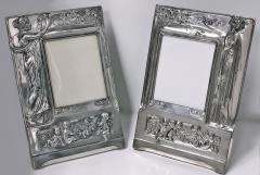 Pair of Art Nouveau Large Silver Plate Photograph Frames Germany C 1900 - 272460
