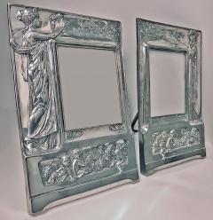 Pair of Art Nouveau Large Silver Plate Photograph Frames Germany C 1900 - 272461