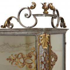 Pair of Art Nouveau gilt metal and steel vitrines - 1443693