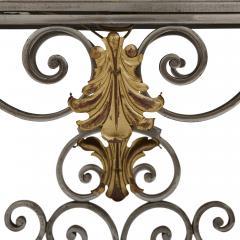 Pair of Art Nouveau gilt metal and steel vitrines - 1443695