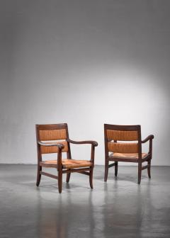 Pair of Arts Crafts armchairs - 1702769