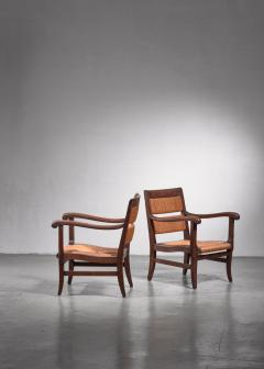 Pair of Arts Crafts armchairs - 1702770