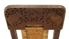 Pair of Asian Burmese Teak Folding Side Chairs - 1419547