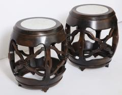 Pair of Asian Marble Topped Tables - 1061137