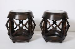 Pair of Asian Marble Topped Tables - 1061138