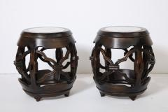 Pair of Asian Marble Topped Tables - 1061140