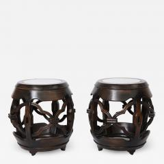Pair of Asian Marble Topped Tables - 1061613