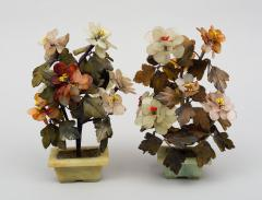 Pair of Assembled Chinese Hardstone Flowers - 1689017