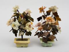 Pair of Assembled Chinese Hardstone Flowers - 1689018