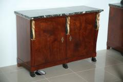 Pair of Baltic Empire Mahogany Parcel Gilt 2 Door Credenza - 40561