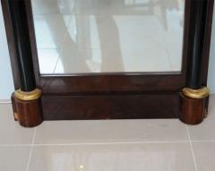 Pair of Baltic Neoclassic Mahogany Ebonized Parcel Gilt Mirrors - 358451