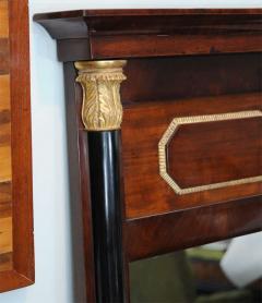 Pair of Baltic Neoclassic Mahogany Ebonized Parcel Gilt Mirrors - 358454