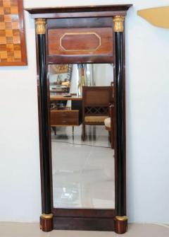 Pair of Baltic Neoclassic Mahogany Ebonized Parcel Gilt Mirrors - 358457