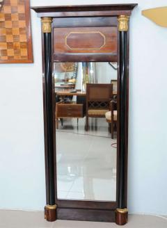 Pair of Baltic Neoclassic Mahogany Ebonized Parcel Gilt Mirrors - 358458