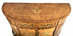 Pair of Baltic Neoclassical Style Marquetry Inlaid Demilune Cabinets - 1431628