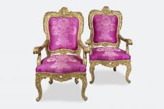Pair of Baroque Armchairs - 737990