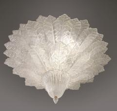 Pair of Barovier Toso Glass Plume Chandeliers - 1345994