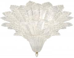 Pair of Barovier Toso Glass Plume Chandeliers - 1345996