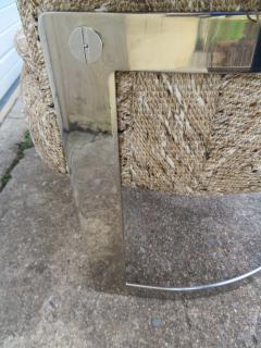 Pair of Barrel Back Chrome Lounge Chairs Mid Century Modern - 1570854