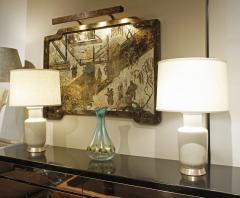 Pair of Beautiful Artisan Ceramic Table Lamps 1950s - 1058303