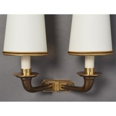 Pair of Beautifully Cast Bronze Sconces France 1950s - 1909485