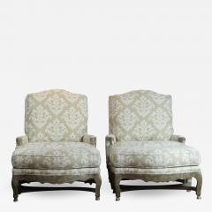 Pair of Berger Chairs Ottoman - 802459