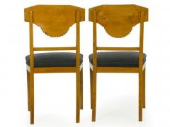 Pair of Biedermeier Style Birch Fan Carved Side Chairs 19th Century - 928887