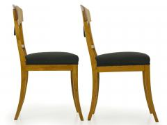 Pair of Biedermeier Style Birch Fan Carved Side Chairs 19th Century - 928889