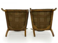 Pair of Biedermeier Style Birch Fan Carved Side Chairs 19th Century - 928892