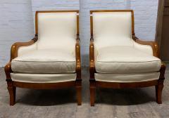 Pair of Biedermeier Style Lounge Chairs - 1060456