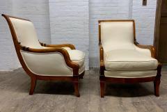 Pair of Biedermeier Style Lounge Chairs - 1060457