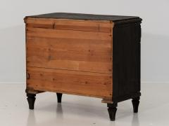 Pair of Black Gustavian Style Chests of Drawers - 1753136