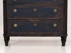Pair of Black Gustavian Style Chests of Drawers - 1753138