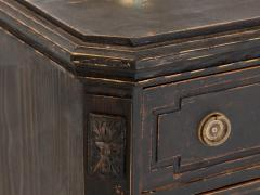 Pair of Black Gustavian Style Chests of Drawers - 1753139