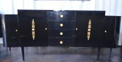 Pair of Black Lacquer Commodes by Kelly Wearstler - 230768