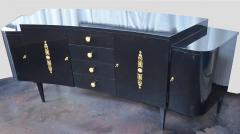 Pair of Black Lacquer Commodes by Kelly Wearstler - 230769