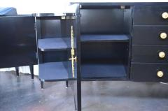 Pair of Black Lacquer Commodes by Kelly Wearstler - 230770