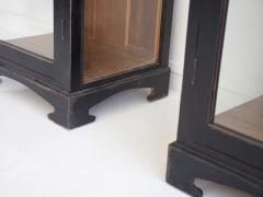Pair of Black Wooden Vitrine Cabinets - 1253698