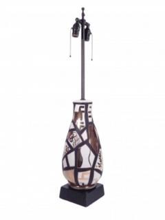 Pair of Black and Gold Ceramic Lamps - 1649430