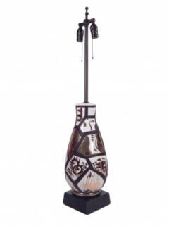 Pair of Black and Gold Ceramic Lamps - 1649431